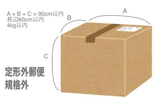 郵便 定形 サイズ 外